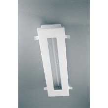 encastre plafond fluorescent t5 24w dimmable platre naturel