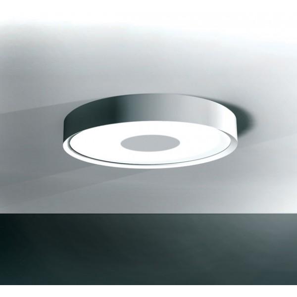 plafonnier rond fluorescent 55w peinture metal alu blanc mat. Black Bedroom Furniture Sets. Home Design Ideas