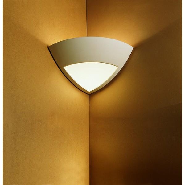applique 1817 angle verre platre incandescent platre naturel. Black Bedroom Furniture Sets. Home Design Ideas