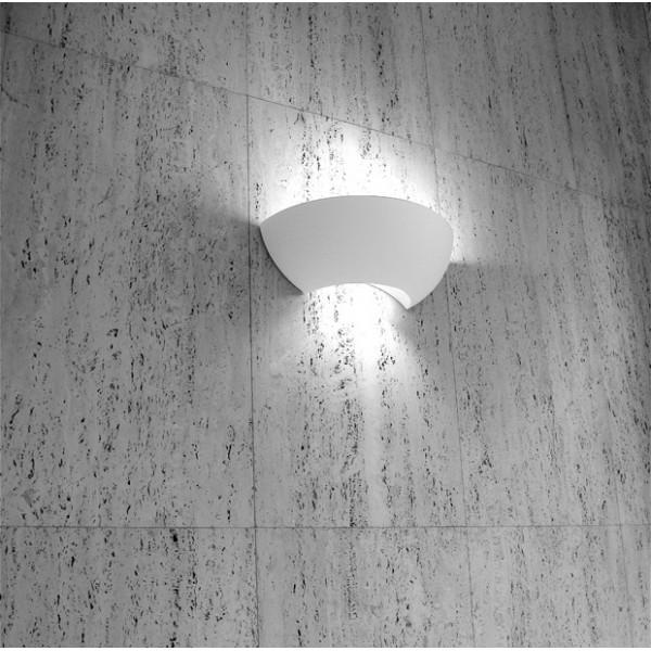 applique 1818 double eclairage incandescent platre naturel. Black Bedroom Furniture Sets. Home Design Ideas