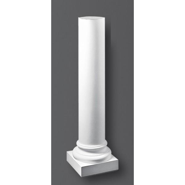 Colonne 1043 peinture blanche luminaire applique rosace corniche frise - Colonne aluminium prix ...