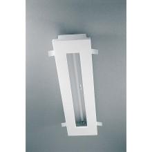 encastre plafond fluorescent t5 24w dimmable platre naturel