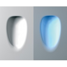encastre mural egg led wc2 platre naturel