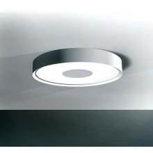 plafonnier rond fluorescent 55w peinture metal alu blanc mat ral 9006